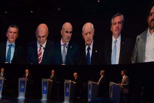 final del primer tiempo: el cruce entre macri y alberto, el protagonista del debate presidencial
