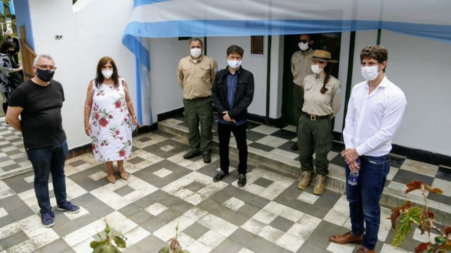 El Presidente visitó el lugar donde estuvo detenido Perón en 1945