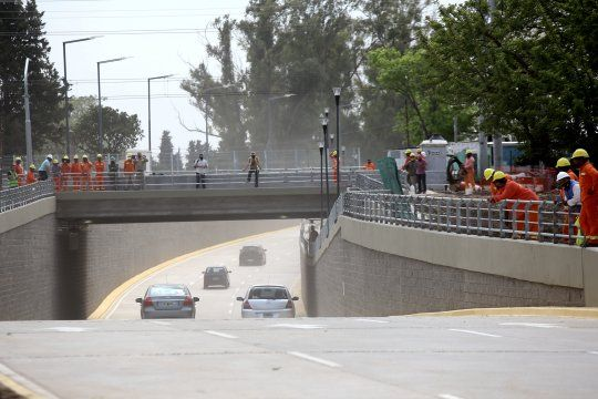 la plata: habilitan la rampa de avenida 32 por la obra del paso bajo nivel