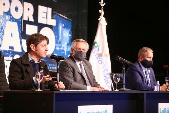 El gobernador Axel Kicillof encabezó la apertura del Congreso de La Bancaria.