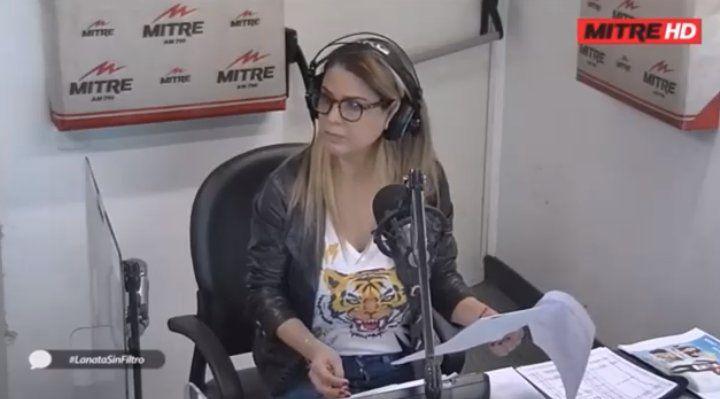 La cara de Marina Calabró cuando Lanata habló de Navarro
