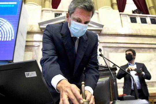 El presidente de la Cámara de Diputados, Sergio Massa, se refirió al proyecto oficial para modificar el piso del Impuesto a las Ganancias  que se espera sea tratado en el recinto en el mes de marzo