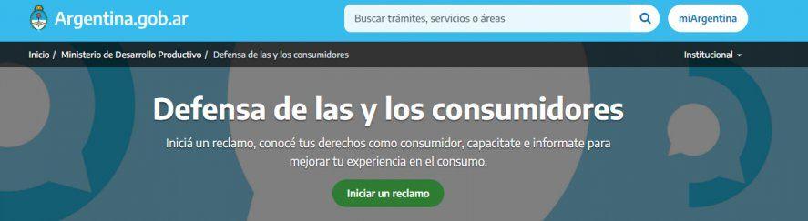 El reclamo por incumplimiento de un servicio contratado o problemas con un producto comprado se inicia a través de la web.