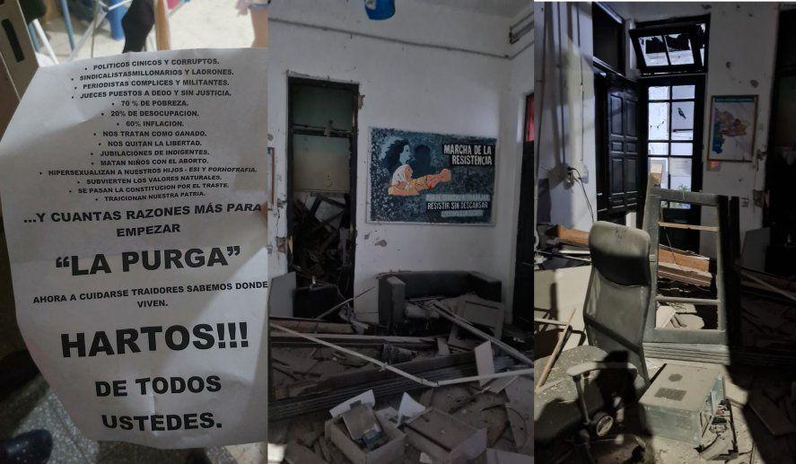 Bahía Blanca: atentado contra un local de La Cámpora