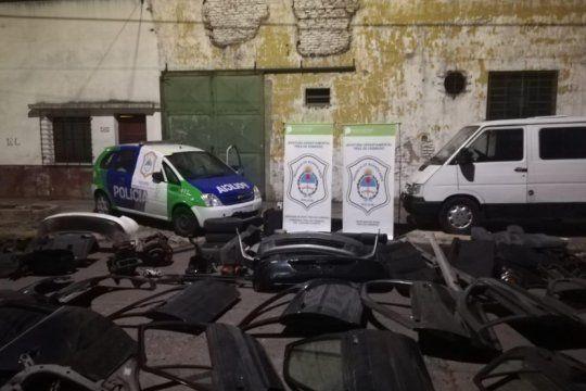 tres de febrero: dos personas detenidas por montar un taller clandestino de autopartes