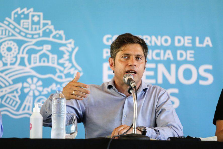 El gobernador Axel Kicillof se mostró ofuscado por la campaña contra su esposa
