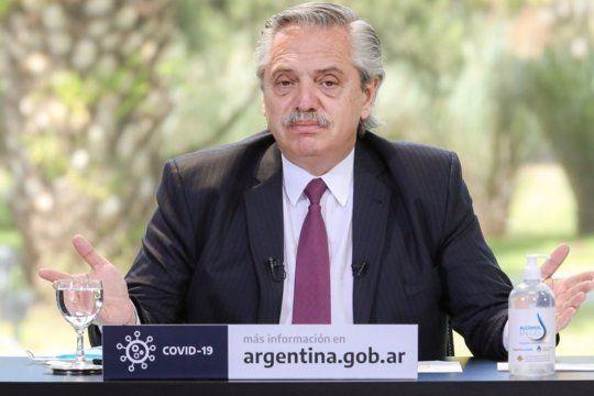 El presidente Alberto Fernández participó de un encuentro virtual con referentes del Frente de Todos.