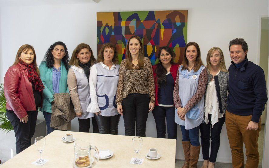 Vidal arrancó la semana con una reunión con directoras de la Red de Escuelas de Aprendizaje