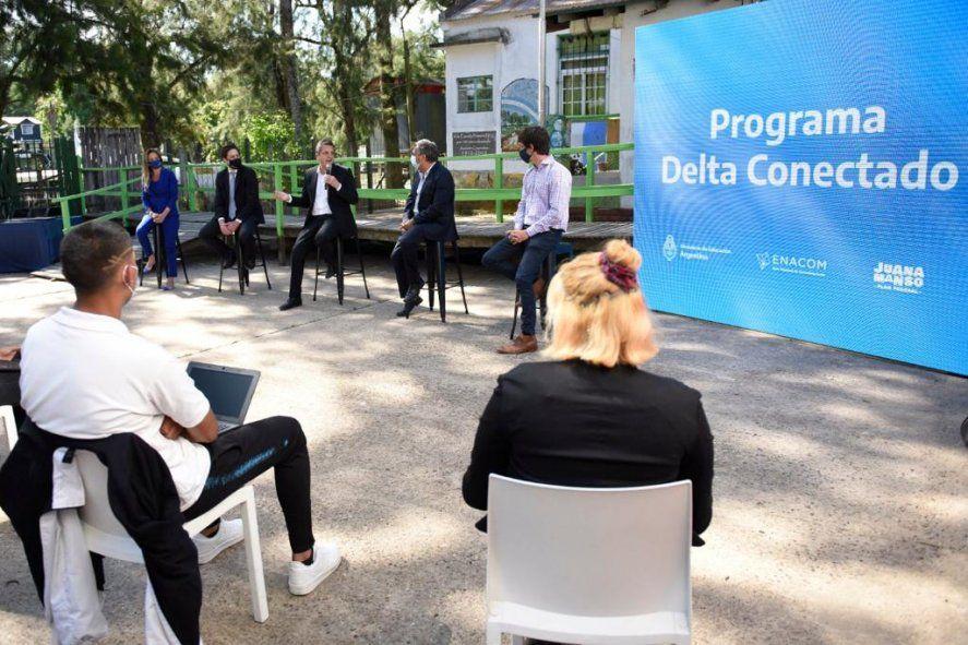 Massa participó del plan que busca extender la conectividad en las islas del Delta