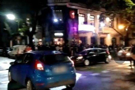 La esquina de los disturbios anoche en la zona de La Plata que un medio gráfico histórico denominó Soho, a imitación de Palermo en la ciudad de Buenos Aires y que provocó burlas en redes