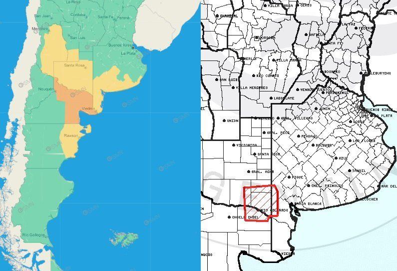 El SMN emitió un alerta por vientos en el sur bonaerense y un ACP por tormentas en Puan y Villarino