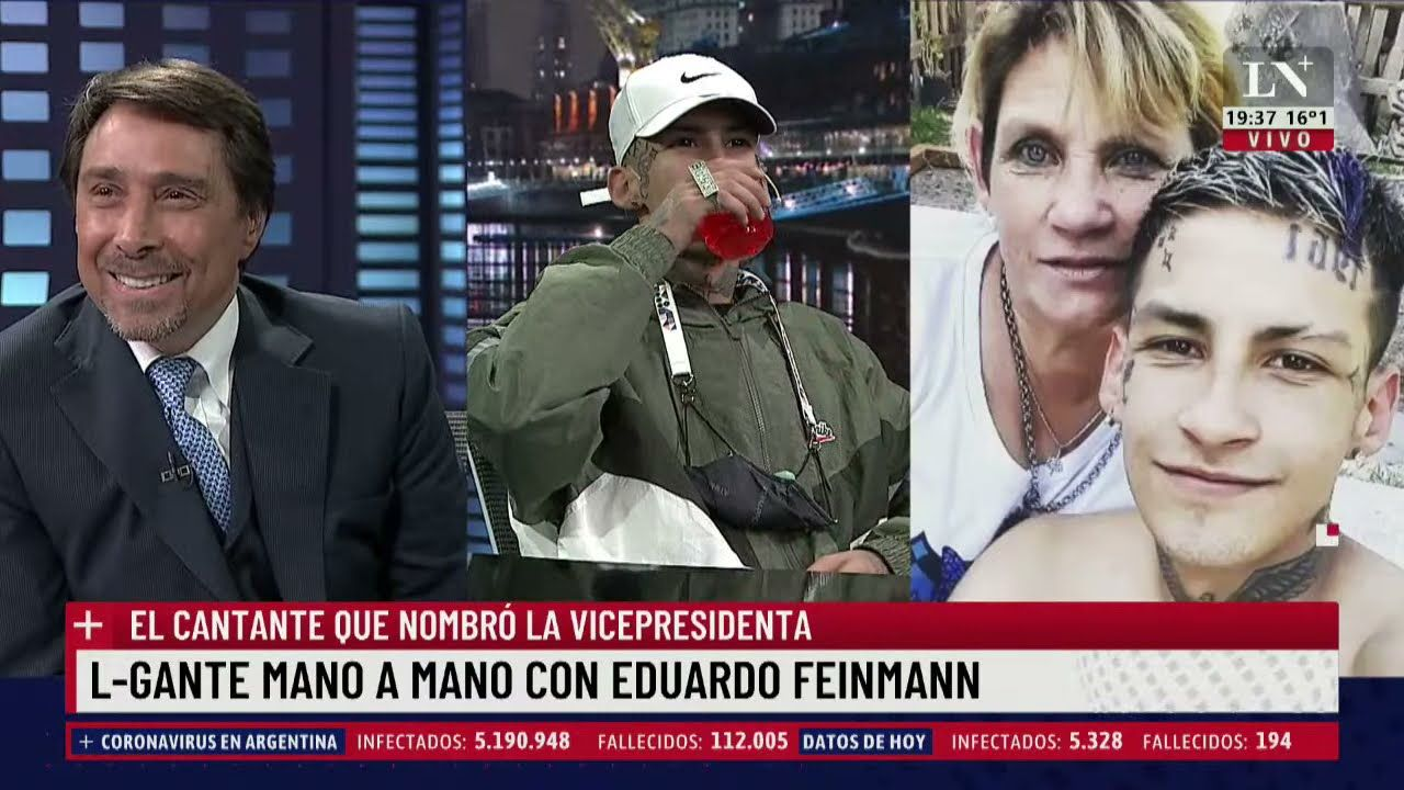 L-Gante participó de una entrevista con Eduardo Feinmann