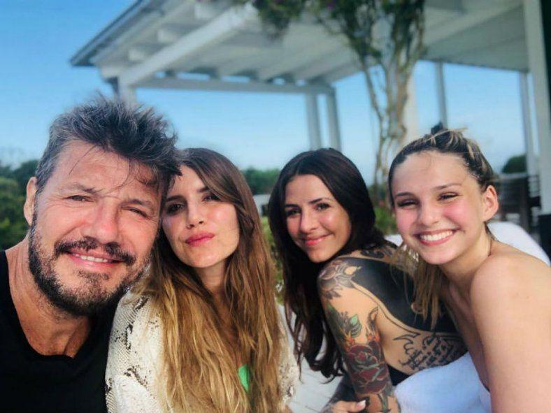 Las hijas de Tinelli salieron a respaldarlo en las redes
