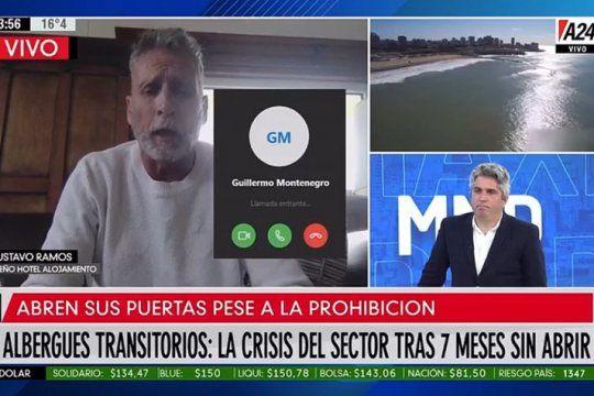 La comunicación con el intendente Guillermo Montenegro apareció en el medio de una nota de a24.