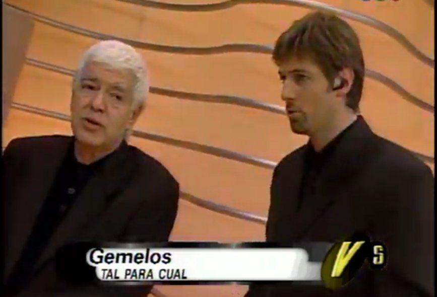 Adolfo Castelo y Horacio Cabak condujeron un programa llamado Gemelos en 1998