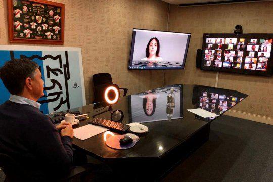 Jorge Macri y María Eugenia Vidal muestran unidad en el zoom con intendentes
