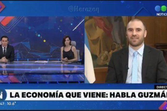 Guzmán y Cristina Pérez protagonizaron un tenso cruce por el precio de los insumos importados.visibility