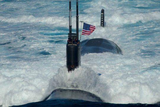 Un submarino nuclear de EEUU y aviones británicos en las costas de Tierra del Fuego
