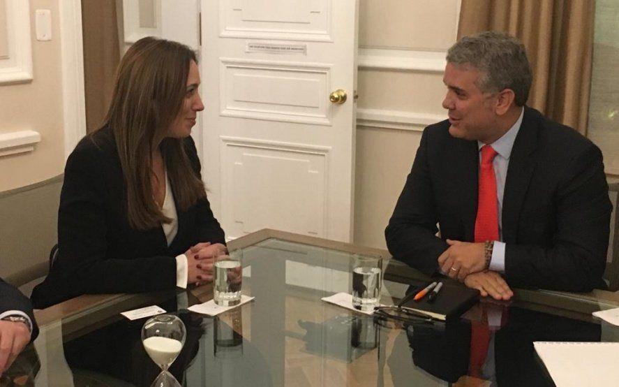 Gira internacional: Vidal se reunió con Iván Duque Márquez, presidente de Colombia