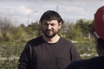 Juan Grabois en la Estancia Casa Nueva de la familia Etchevehere, en Entre Ríos.