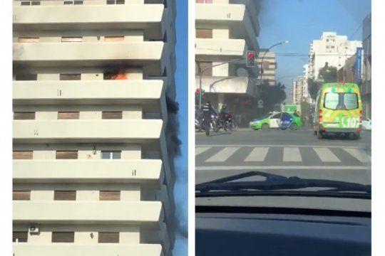 video: panico por incendio en un conocido edificio del centro de la plata