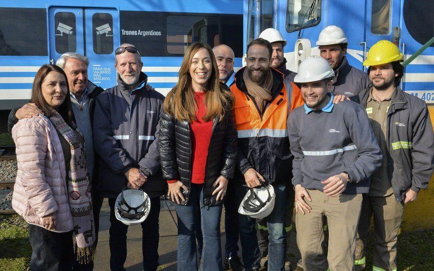 Vidal, junto a Luján Rey, supervisó la instalación del sistema de frenado para trenes