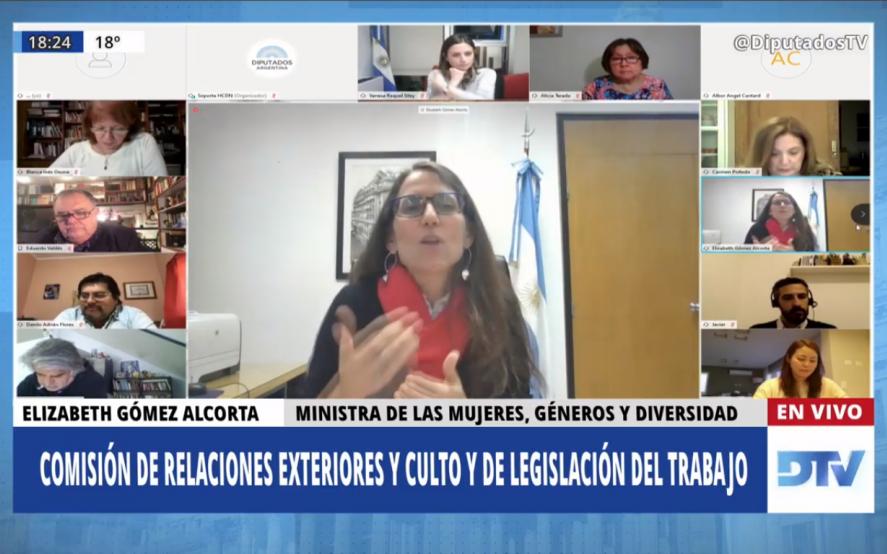 Miralo en vivo: Eli Gómez Alcorta diserta en Diputados sobre violencia y acoso laboral