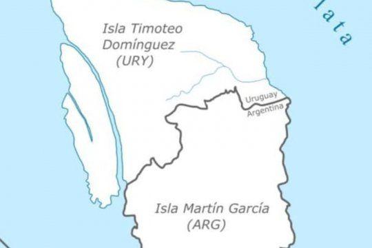 En la isla Martín García se constituye la única frontera terrestre que marca el límite entre Argentina y Uruguay