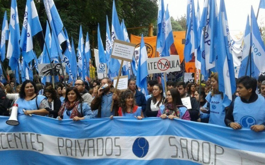 SADOP presentó un proyecto de ley para quitar subsidios a las escuelas privadas que despidan sin causa