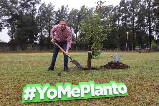 el intendente esteban echeverria lanzo un programa de forestacion