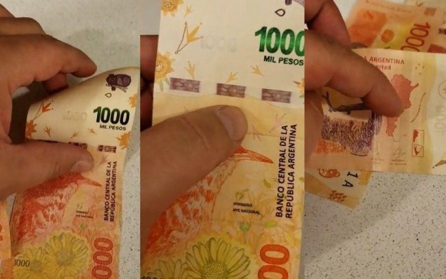 El René Lavand de los billetes de $1000: lo estafaron y grabó un paso a paso para reconocer dinero falso
