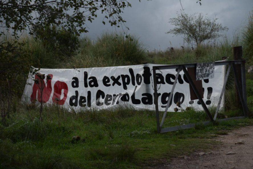 Olavarría: Vecinos protestan contra las canteras en Cerro Largo