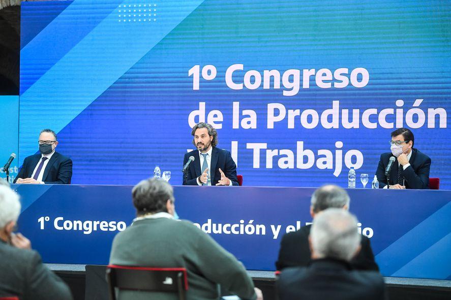 Santiago Cafiero destacó el crecimiento de créditos para Pymes durante la gestión de Alberto Fernández