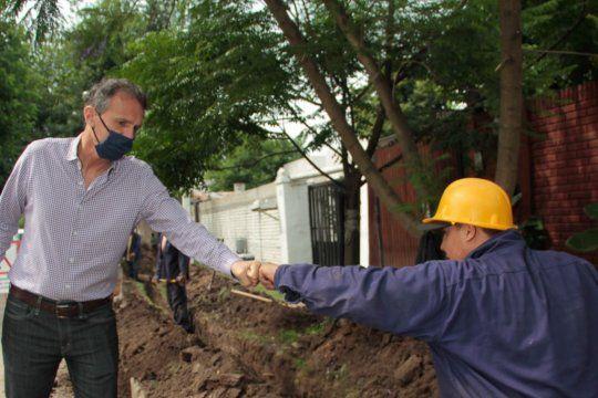 Katopodis firmó convenios entre los municipios y el Ente Nacional de Obras Hídricas de Saneamiento.