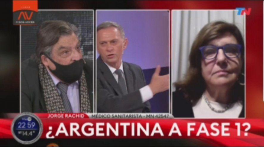 Marcelo Bonelli se trenzó en un fuerte contrapunto con el asesor bonaerense en políticas sanitarias Jorge Rachid