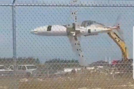 El avión que parece un juguete pero no lo es, y un video que se hizo viral