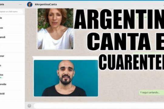 #argentinacanta: mira como quedo el tema interpretado por mas de 30 artistas en medio de la cuarentena