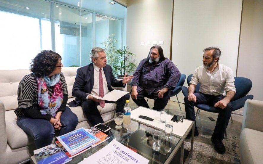 Baradel se mostró optimista con que Alberto Fernández restablezca la paritaria nacional docente