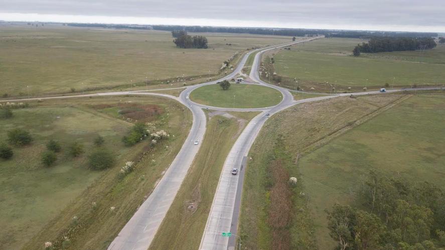 Vista aérea de una intersección de la Ruta 6