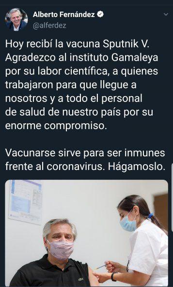 El Tweet del Presidente Alberto Fernandez que mereció la incorrecta corrección del diario La Nación