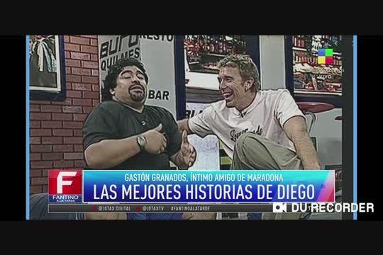 Fantino, Maradona y el regalo parecido al Negro de WhatsApp