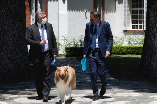 Alberto Fernández anunció las primeras 30 obras públicas de 2021 junto a su ministro de Obras Públicas, Gabriel Katopodis.