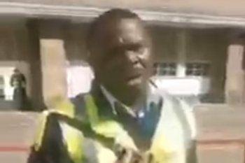La imagen del hombre nigeriano capturado en video por el padre de la menor y acusado de pedófilo en Londres