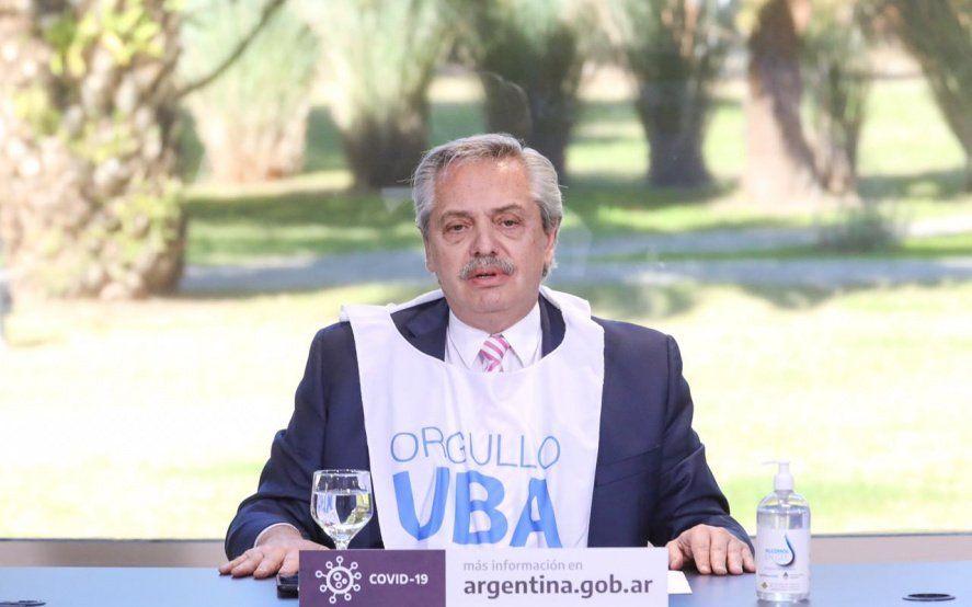 Alberto Fernández: Estoy orgulloso de haber caído en la universidad pública