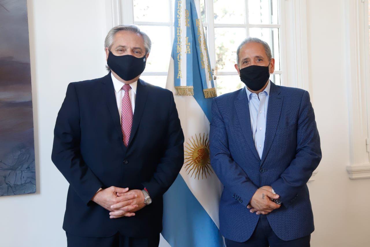 Alberto Fernández comparte nuevamente una actividad con el líder de los bancarios, Sergio Palazzo.