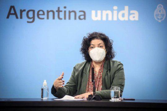 La mnistra de Salud, Carla Vizzotti, idió reforzar las acciones para contralar las variantes de Covid-19