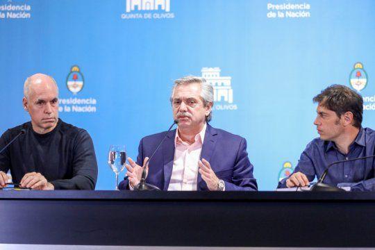 El presidente Alberto Fernández evalúa extender la cuarentena y el AMBA es el foco de atención (foto archivo)