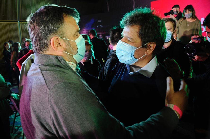 Diego Rovella junto a Manes en las PASO