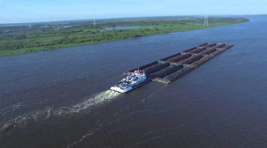 La hidrovía está. Un organismo vivo como es el río