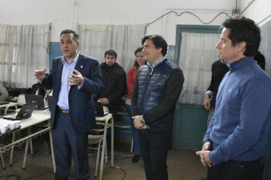 los ministros de educacion nacional y provincial visitaron general rodriguez